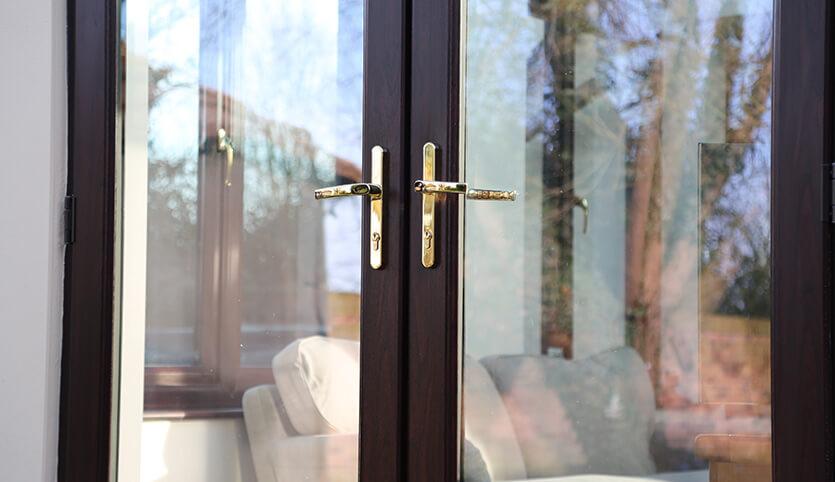 dark french doors